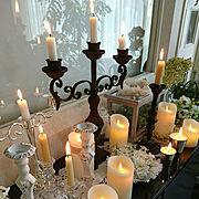 キャンドル/癒される灯り❇/キャンドルの灯りが好き✴/LEDキャンドル/キャンドルスタンド…などのインテリア実例