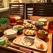箸置き/晩ごはん/無印良品のトレー/ダイニング/ダイニングテーブル/おうちごはん…などのインテリア実例