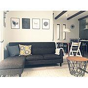POVキャンドルホルダー/ferm LIVING/honefoss/IKEA クッションカバー…などのインテリア実例