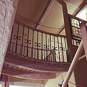 エイジング塗装/アンティーク風/アイアン/手作り/扉/タイル…などのインテリア実例