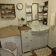 賃貸でも楽しく♪/原状回復DIY/インスタ→chii_ne/賃貸DIY/Bathroom…などのインテリア実例
