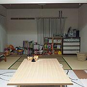 絵本 収納/和室/子供部屋/カラーボックス/おもちゃ収納/かご…などのインテリア実例