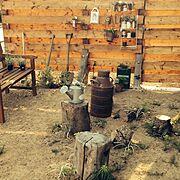 ガーデン/リメ缶/さびラブ♡/多肉植物ちゃん/虹の玉/植物…などのインテリア実例