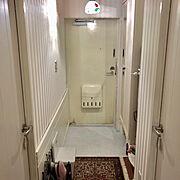 床張り替えDIY/東リ ロイヤルストーン/Entrance…などのインテリア実例