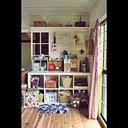 アトリエ予定部屋/毛糸まみれ/IKEA/セルフリフォーム/My Shelf…などのインテリア実例