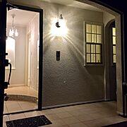 玄関ニッチのインテリア実例写真
