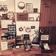 宣伝ですみません(。>ㅅ<。)/6月14日箕面マルシェに出店します♡/友人とmalcoで活動してます♡…などのインテリア実例