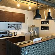 IKEA/北欧/リノベーション/アクセントクロス/Kitchen…などのインテリア実例