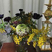 花のある暮らし/ミモザ/ホワイトデー…などのインテリア実例