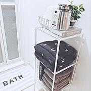 Bathroom/洗面所/タオル/バスタオル/gelato pique/グレー…などのインテリア実例