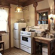 ふるいもの…♡/小さな家♡/ランプ♡/パン焼き器/2018.11.14☁️/Kitchen…などのインテリア実例