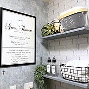DIY/IKEA/洗面所/salut!/壁紙/ニトリ…などのインテリア実例