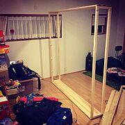 オモチャ部屋/オモチャ/DIY/My Shelf…などのインテリア実例