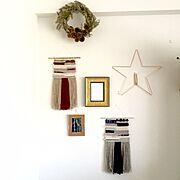 マクラメタペストリー/マクラメ編み/weaving/モノトーン/ウォールハンギング/IKEA…などのインテリア実例