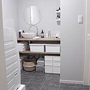 洗面台DIY/洗面台/洗面台周り/洗面台下収納/洗面台収納/洗面台DIY…などのインテリア実例