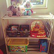 DIY/すのこ棚/おもちゃ棚/My Shelf…などのインテリア実例