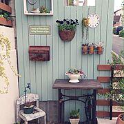 ブロカント/コランダー/Garden*/Brocante/パパのDIY/リメ缶…などのインテリア実例