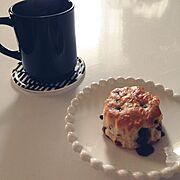 コーヒーではなく柚子茶だった/おやつの時間ですよ♡/ラガハウス/白黒/セリア…などのインテリア実例