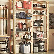 ブラック・アンド・デッカー/ブラックアンドデッカー/壁掛けフック/園芸工具…などのインテリア実例