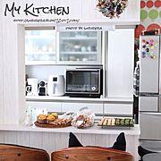 リース/手作りリース/壁/冷蔵庫/賃貸/賃貸一軒家…などのインテリア実例