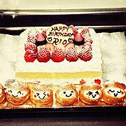 バースデーケーキのインテリア実例写真