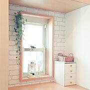 壁紙DIY/レンガ壁紙/壁紙屋本舗/下駄箱/玄関/シンプルインテリア…などのインテリア実例
