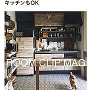 幾何学模様/壁紙屋本舗さん/壁紙でキッチンリメイク/アンティークタイル風CF/猫のいる暮らし…などのインテリア実例