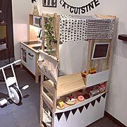 IKEA/DIY/こどもと暮らす。/子どもと暮らす/ニトリ/キッズスペース…などのインテリア実例