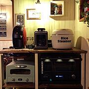 手作りカッテングシート/DIY/炊飯器リメイク/炊飯器/Kitchen…などのインテリア実例
