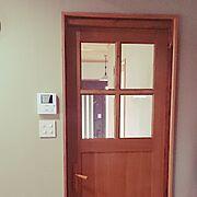 木工房和nagomi/室内ドアも作ってます/手作り/室内ドア/旦那作/夫作…などのインテリア実例