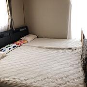 無印の枕カバーのインテリア実例写真