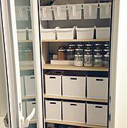 キッチンの収納/つっぱり棒/セリア/ニトリ/整理収納/キッチン収納…などのインテリア実例