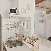手書きメニューボード/手作りラベル/100均/natural kitchen/スパイスラック…などのインテリア実例
