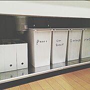 キッチン収納/ゴミ箱/収納/無印良品/整理収納部/Kitchen…などのインテリア実例