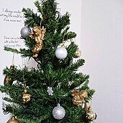 ダイソーのオーナメント/ニトリのオーナメント/天使/クリスマス雑貨/北欧インテリアに憧れる…などのインテリア実例