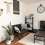 掛け時計/リビングダイニング/モノトーン/暮らしを楽しむ/観葉植物のある暮らし/一人暮らし…などのインテリア実例