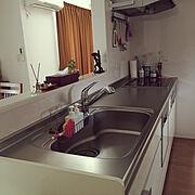 キッチンカウンター/白い家/アジアン/使いやすさ重視/白い壁/バリ風…などのインテリア実例