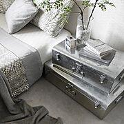 塩系インテリア/観葉植物/Bedroom/寝室/ベッドサイド/ベッドリネン…などのインテリア実例