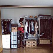 衣替え/収納/クローゼット/クローゼット収納/Bedroom…などのインテリア実例