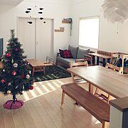 トリップトラップ/フレンステッドモビール/ダイソー/幼稚園椅子/無印良品 壁に付けられる家具/無印良品…などのインテリア実例