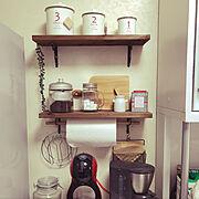 DIY/カフェ風に/ドルチェグスト/キャスキッドソン/My Shelf…などのインテリア実例