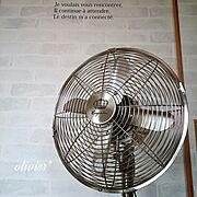 セリア/扇風機♡/セリアの転写シール/しゃれとんしゃあ会/RC九州支部/Lounge…などのインテリア実例