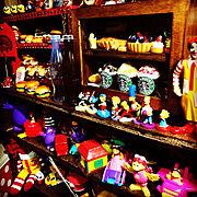 My Shelf/ごちゃごちゃ好き/素敵便/いいね&コメントいつもアリガトウ♡/雑貨大好き♡…などのインテリア実例