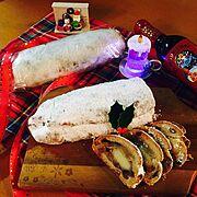 クリスマス雑貨/RCの皆さまに感謝♡/クリスマスシュトーレン/クリスマスワイン/Kitchen…などのインテリア実例