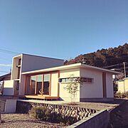 木建具/レトロ/カフェ風/ナチュラル/新築一軒家/漆喰塗り壁…などのインテリア実例
