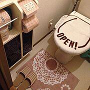 賃貸でも楽しく♪/キャンドゥ/salut!/ハンドメイド/しまむら/Bathroom…などのインテリア実例