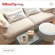 ソファ/築15年/ニトリ/スツール/RoomClip mag/Bedroom…などのインテリア実例