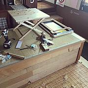 ベッド下収納のインテリア実例写真