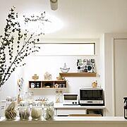 見せる収納/壁に付けられる家具/IKEA/無印/無印良品/ファブリックパネル…などのインテリア実例