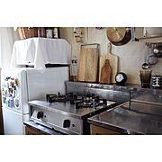 賃貸キッチン/リンナイ/Vamo./instagram:go_room/Kitchen…などのインテリア実例